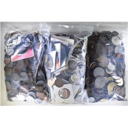 OVER 20 POUNDS OF FOREIGN COINS--UNSEARCHED