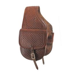 Tooled Leather Western Saddlebags