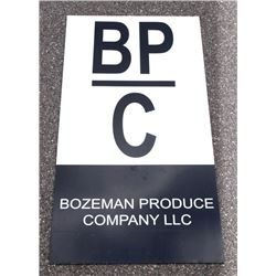 Bozeman Produce Company Advertising Sign