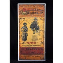 Pendleton Round-Up Poster by Bob Coronato