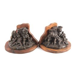 Original Gary Schildt Bronze Bookends