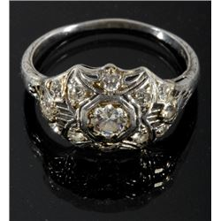 Edwardian Era Platinum & Diamond Ring c. 1900-