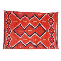 Early Navajo Ganado Pattern Wool Rug c. 1910-30
