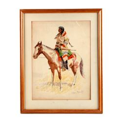 1901 Frederic Remington Chromolithograph