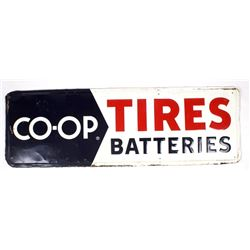 Vintage Co-Op Tires & Batteries Sign