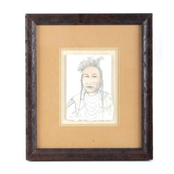 Original Kevin Red Star Framed Sketch