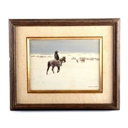 Original Leonard Reedy Framed Watercolor Painting