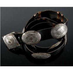 Navajo Second Phase Style Sterling Concho Belt