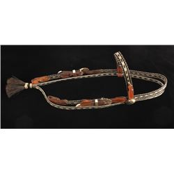 Deer Lodge Prison Braided Horsehair Headstall