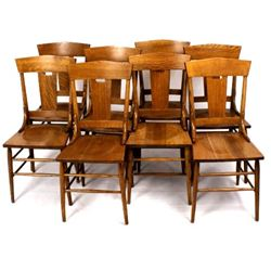 Voss Inn Dining Room Chairs Set c 1935