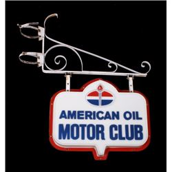American Oil Motor Club Hanging Sign