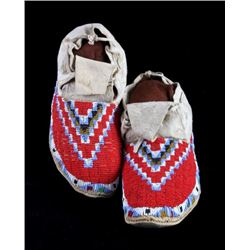 Sioux Native American Beaded Moccasins