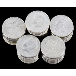 US Kennedy Silver Half Dollar Collection x54 Coins