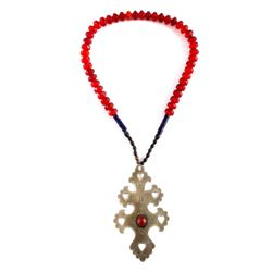 Russian Trade Bead Necklace w/ Hudson Bay Cross
