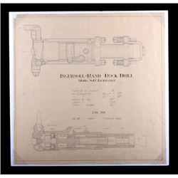 1931 Ingersoll-Rand Rock Drill Schematic Drawing