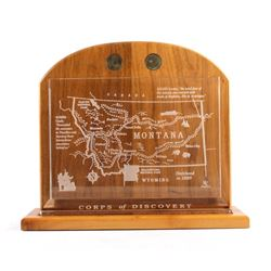 Lewis and Clark Commemorative Crystal Plaque