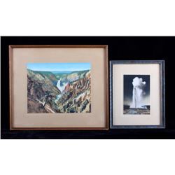 Haynes Yellowstone Park Hand Tinted Photographs