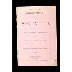 1889 Constitution of the State of Montana
