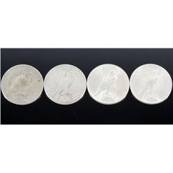 1922 Silver Peace Dollar Collection x4