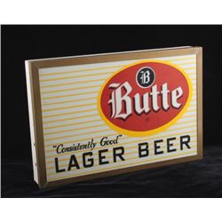 Butte Montana Lager Beer Lighted Sign Box Only