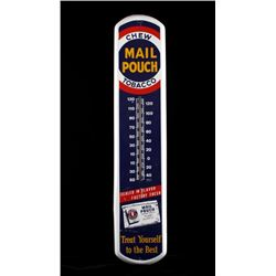 Mail Pouch Chewing Tobacco Advertising Thermometer