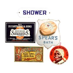 Collection Of Chromolithograph Advertising Signs
