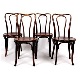 Four Jacob & Josef Kohn Bentwood Parlor Chairs