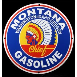 Montana Gasoline Chief Advertising Sign