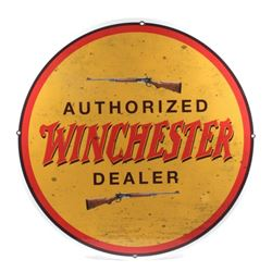 "Winchester ""Authorized Dealer"" Advertising Sign"