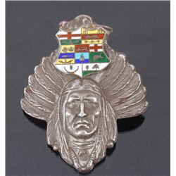 Unger Brothers Sterling Silver Indian Chief Brooch