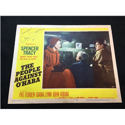 """1951 """"THE PEOPLE AGAINST O'HARA"""" LOBBY SCENE CARD, #8 IN SET, SIGNED BY ANN DORAN"""
