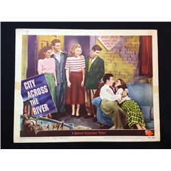 """1949""""CITY ACROSS THE WATER"""" LOBBY SCENE CARD, #5 IN SET, SIGNED BY BARBARA WHITING SMITH"""