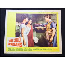 """1962 """"THE 300 SPARTANS"""" LOBBY SCENE CARD, #5 IN SET, SIGNED BY RICHARD EGAN"""