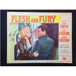 """1952 """"FLESH AND FURY"""" LOBBY SCENE CARD, #2 IN SET, SIGNED BY JAN STERLING"""