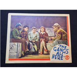 """1943 """"THE GANG'S ALL HERE"""" LOBBY SCENE CARD, SIGNED BY MARCIA MAE JONES"""