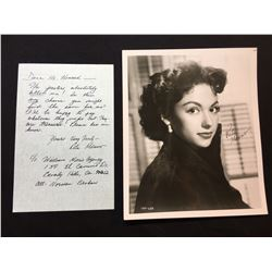 RITA MORENO SIGNED 8'' X 10'' PHOTOGRAPH WITH HAND WRITTEN NOTE