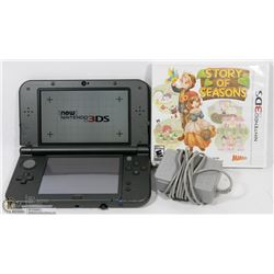NINTENDO 3DS XL BLACK/W CHARGER WORKING