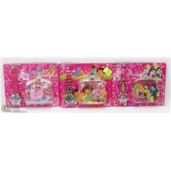 LOT OF 3 NEW KIDS WATCH AND WALLET SETS