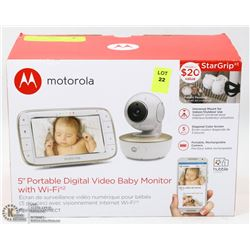"NEW MOTOROLA 5"" PORTABLE DIGITAL VIDEO BABY"