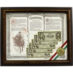Framed Pancho Villa 50 Centavos Display