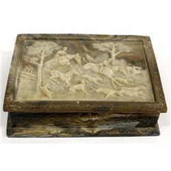 Genuine Incolay Stone Jewelry Box