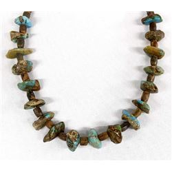 Navajo Turquoise Nugget and Jasper Bead Necklace