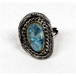Navajo Sterling and Montana Turquoise Ring