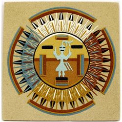 Navajo Sun and Eagle Sand Painting by Jessie D.