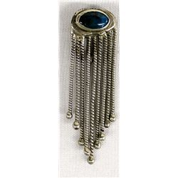 Vintage Navajo Sterling Silver Turquoise Pin