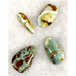 4 Stunning Turquoise Cabochons