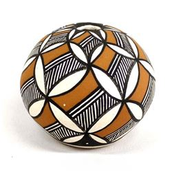 Acoma Polychrome Pottery Seed Jar by Evening Star