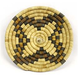 Vintage Hopi Coiled Flat Basketry Tray