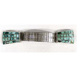 Vintage Zuni Sterling Turquoise Watch Band