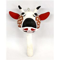 Native American Hopi Gourd Cow Rattle